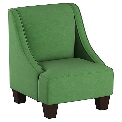 Fletcher Kids' Armchair, Green Linen