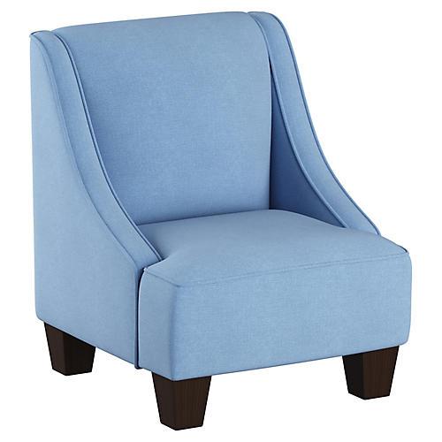 Fletcher Kids' Armchair, French Blue Linen