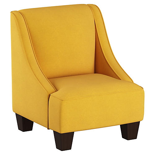 Fletcher Kids' Accent Chair, French Yellow