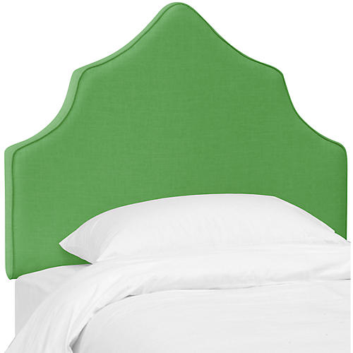 Camille Kids' Headboard, Green Linen