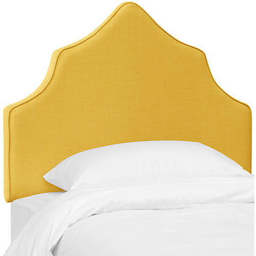 Camille Kids' Headboard, Yellow Linen