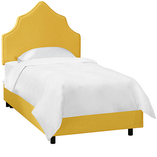 Camille Kids' Bed, Yellow Linen