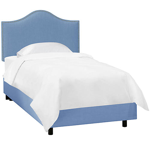Tallman Kids' Bed, French Blue Linen