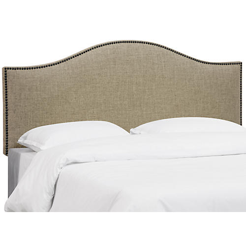 Tallman Nailhead Headboard, Natural