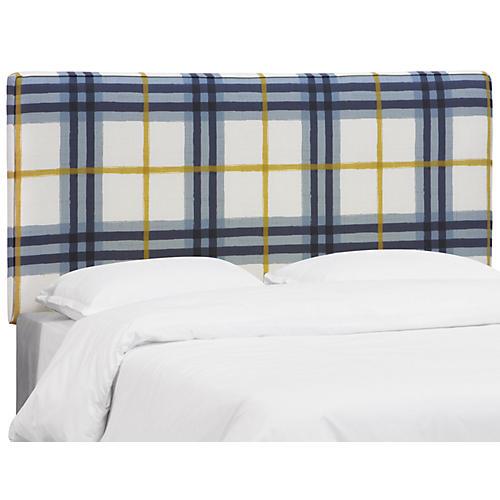 Macy Headboard, Blue/Yellow Linen