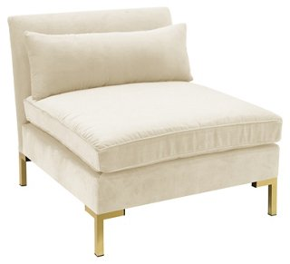 Charmant Marceau Slipper Chair, Cream Velvet   Accent Chairs   Chairs   Living Room    Furniture | One Kings Lane
