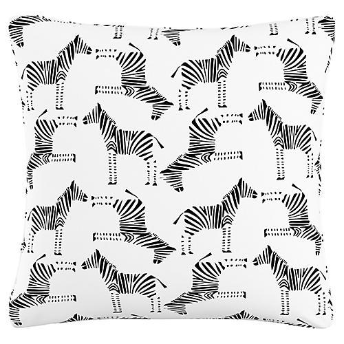 Jaidyn 20x20 Pillow, Black/White