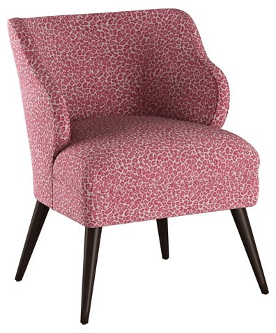 Kira Accent Chair, Pink Leopard - Accent Chairs - Chairs - Living ...