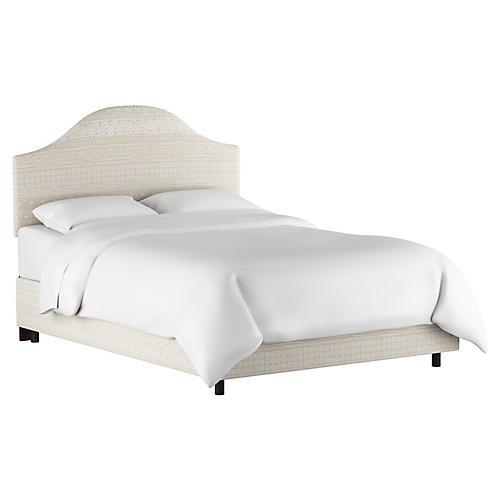 Libby Bed, Natural Batik