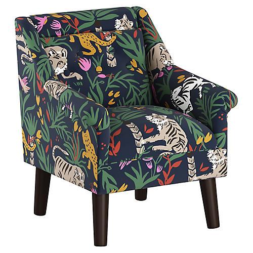 Bella Kids' Accent Chair, Safari Linen