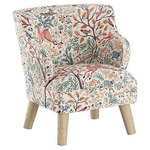 Kira Kids' Chair, Pink Frolic