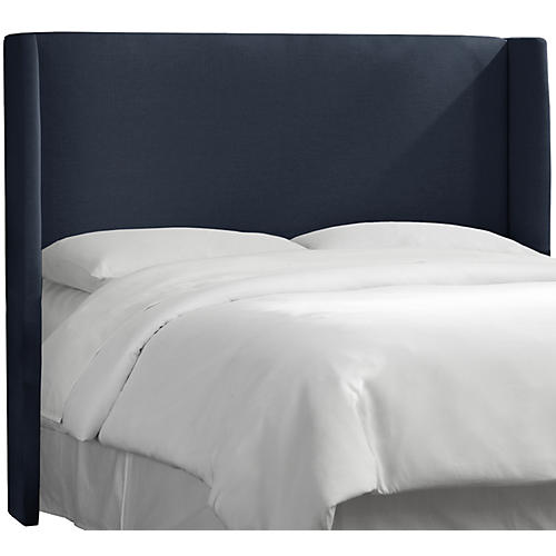 Kelly Wingback Headboard, Navy