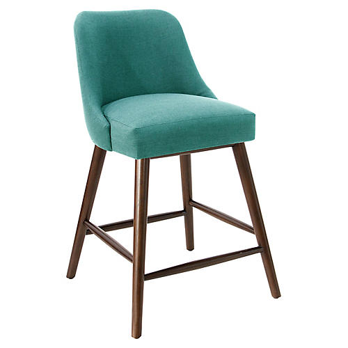 Barron Counter Stool, Teal