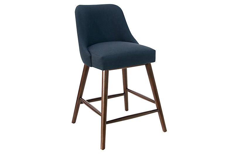 Barron Counter Stool, Navy
