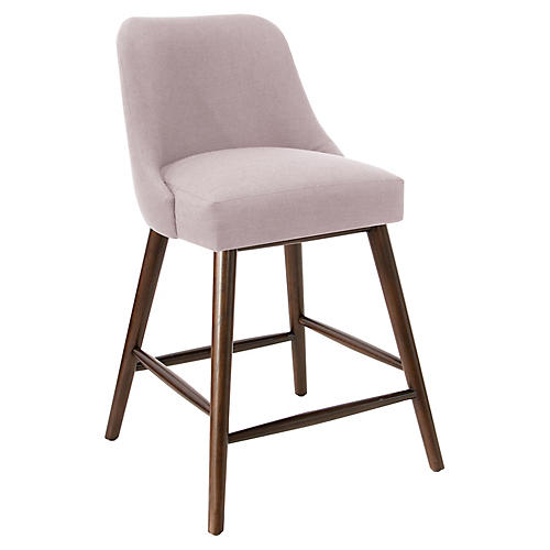 Barron Counter Stool, Lilac Linen