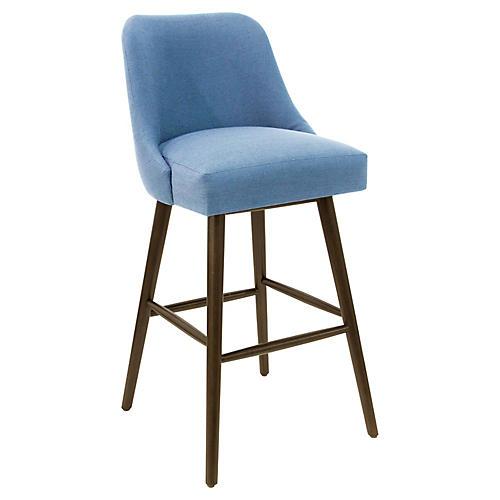 Barron Barstool, French Blue Linen