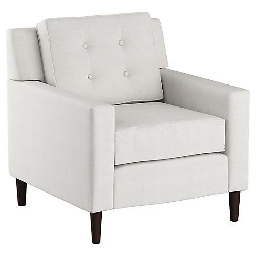 Winston Club Chair, White