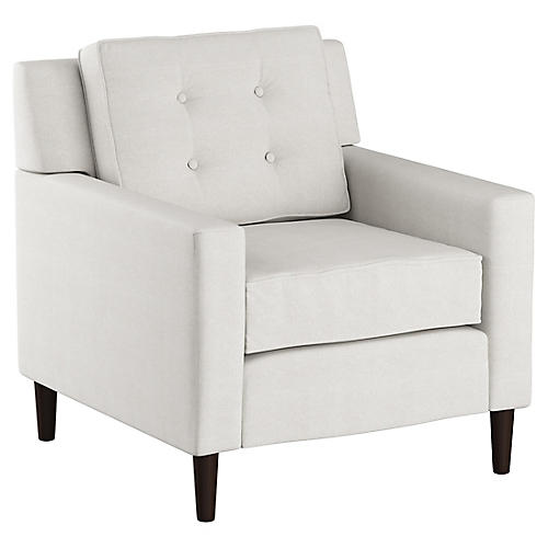 Winston Club Club Chair, White