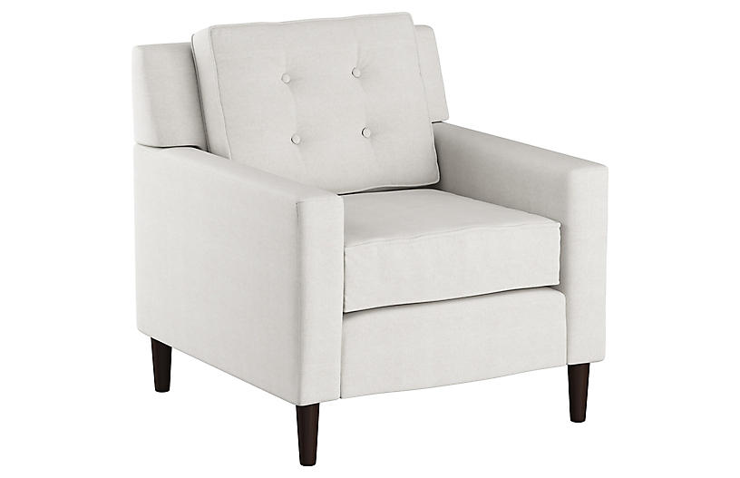 Winston Club Club Chair, White