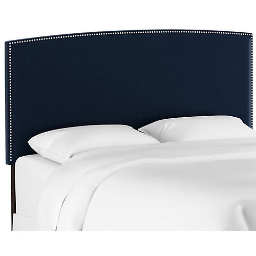 Everly Headboard, Navy Velvet