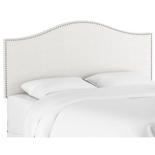 Tallman Nailhead Headboard, White