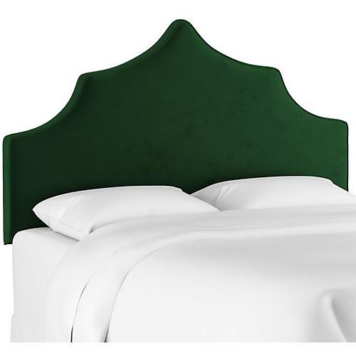 Camille Headboard, Emerald Velvet