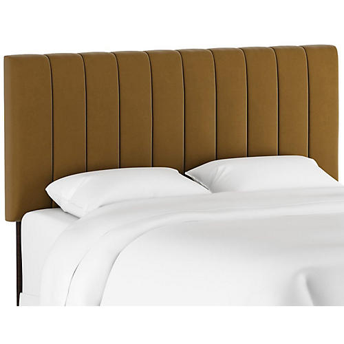 Delmar Channel Headboard, Sand Velvet