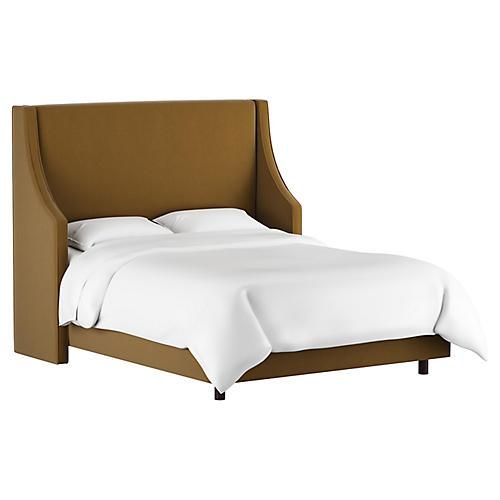 Davis Wingback Bed, Sand Velvet
