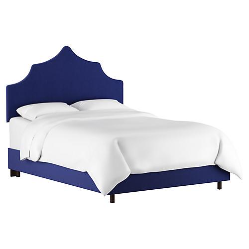 Camille Bed, Blue Velvet