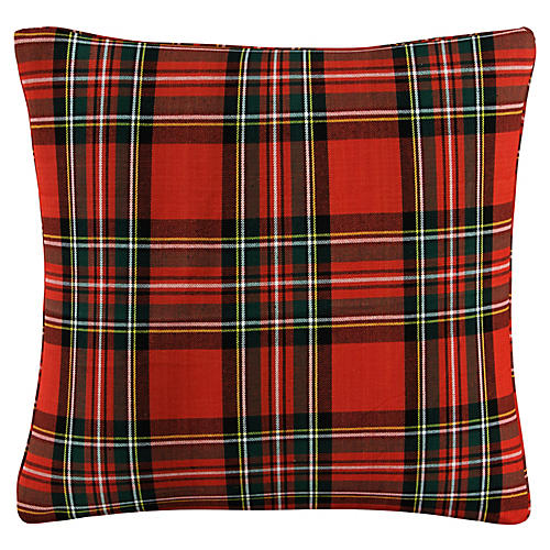 Halsey 20x20 Pillow, Red Tartan