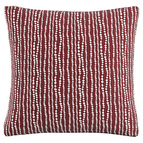 Cyrus 20x20 Pillow, Holiday Red Linen