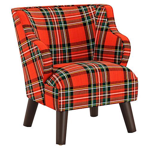 Kira Kids' Accent Chair, Red/Green