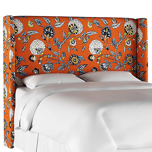Kelly Wingback Headboard, Persimmon