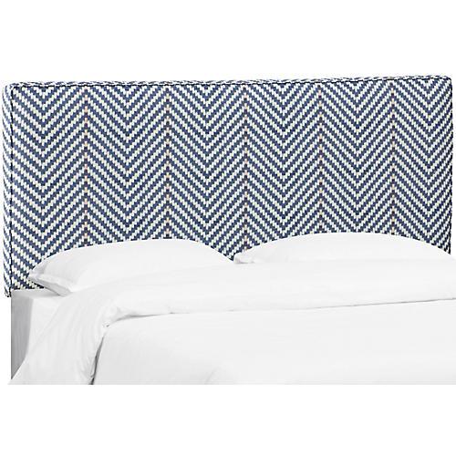 Macy Headboard, Navy Linen