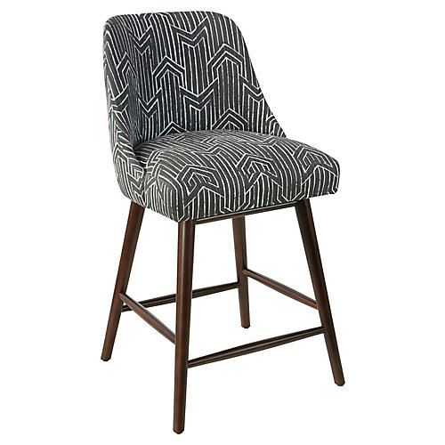 Barron Counter Stool, Gray/White