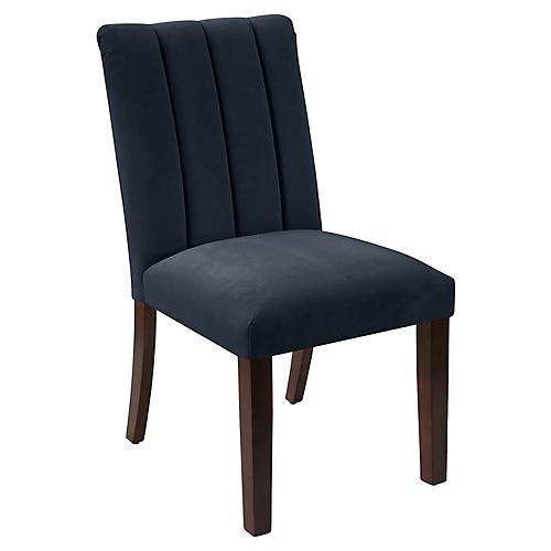 Delmar Side Chair, Navy Velvet