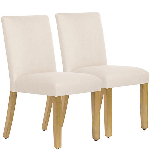 S/2 Shannon Side Chairs, Talc