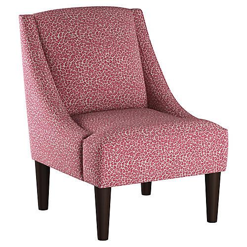 Quinn Swoop-Arm Chair, Pink