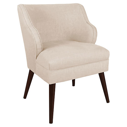 Kira Accent Chair, Talc Linen