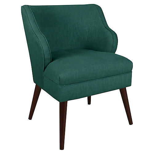 Kira Accent Chair, Forest Linen