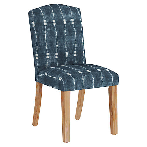 Marie Side Chair, Indigo/White