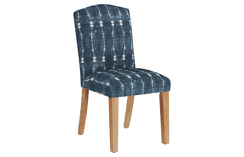 Marie Side Chair, Indigo/White