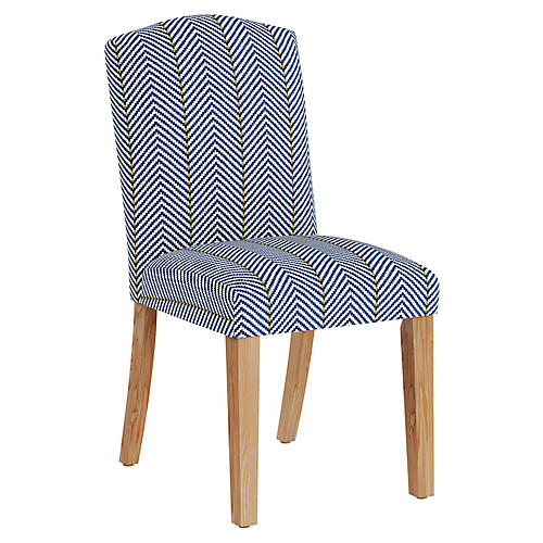 Marie Side Chair, Navy Linen