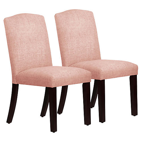 S/2 Marie Side Chairs, Blush