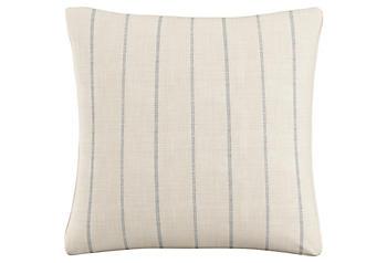 Blue 100 Cotton Pillow One Kings Lane