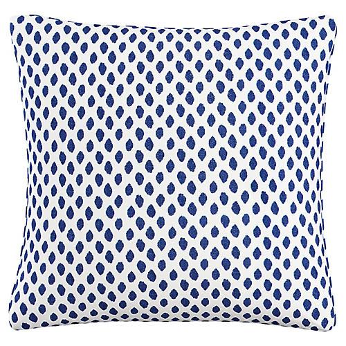 Chardon 20x20 Pillow, Navy Dot