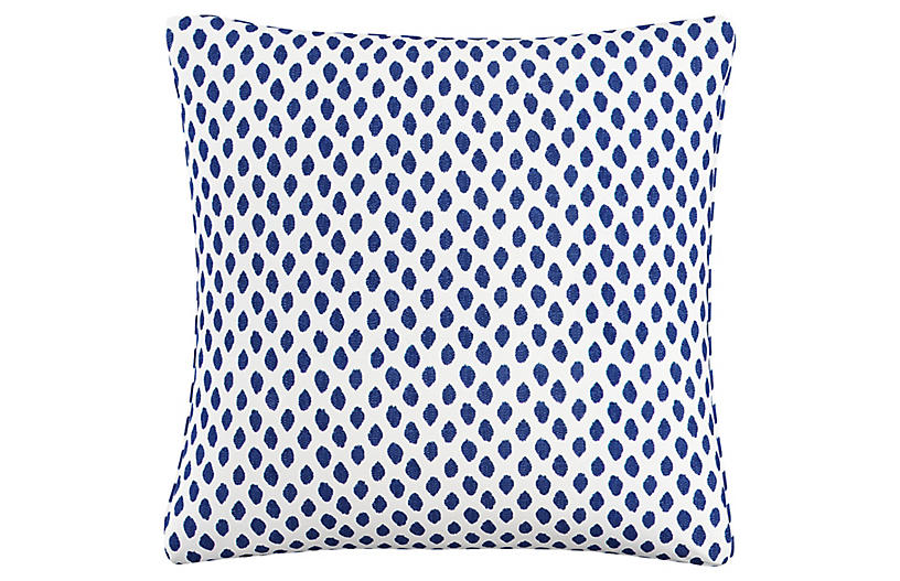 Chardon 20x20 Pillow, Navy Dot