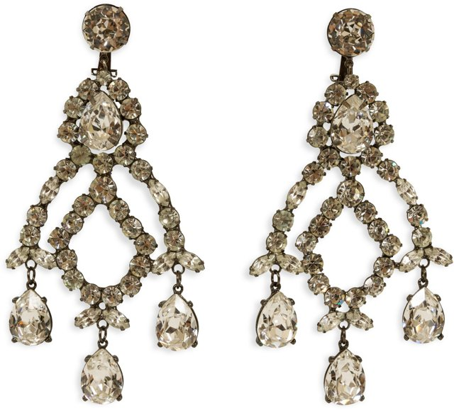 Kenneth Jay Lane Rhinestone Earrings I