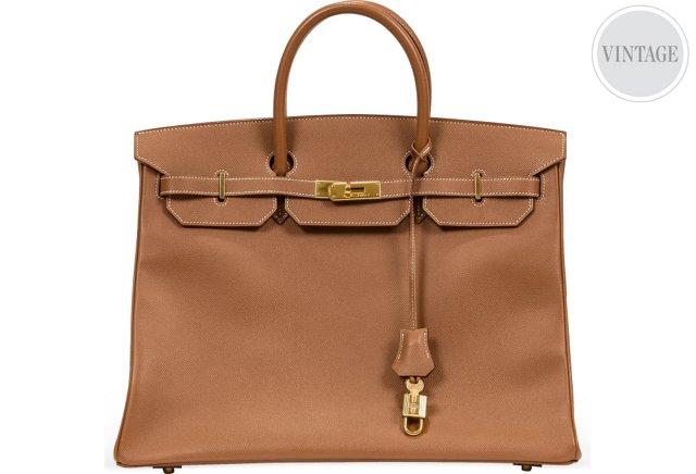 Hermès Gold Ardennes Birkin Bag 40