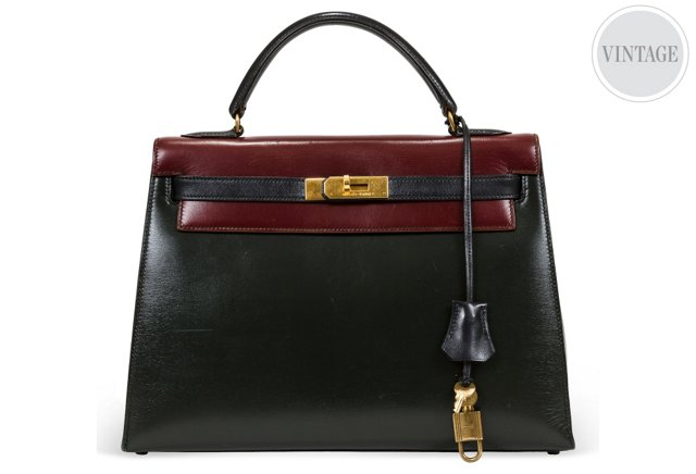 Hermès Color-Block Kelly Bag 32